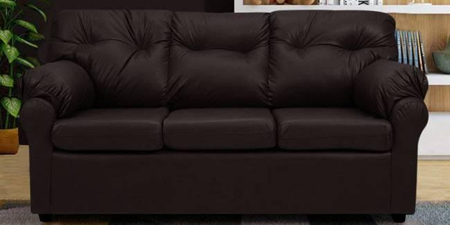 Cincinnati Leatherette sofa - Brown (Brown, 3-seater Custom Set - Sofas, None Standard Set - Sofas, Leatherette Sofa Material, Regular Sofa Size, Regular Sofa Type)