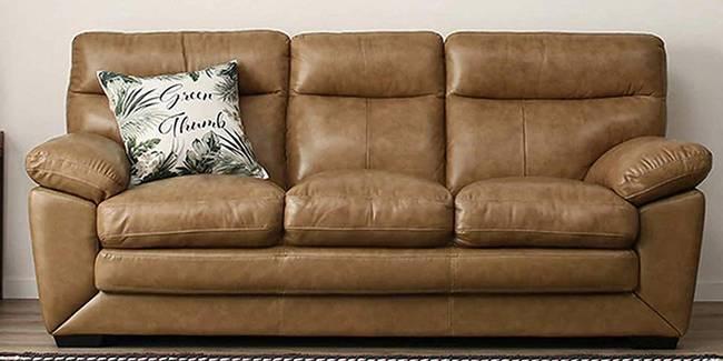 Gaskarth Leatherette sofa - Cream (Cream, 3-seater Custom Set - Sofas, None Standard Set - Sofas, Leatherette Sofa Material, Regular Sofa Size, Regular Sofa Type)