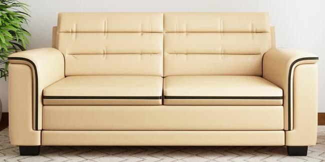 Harrison Leatherette sofa - Cream (Cream, 3-seater Custom Set - Sofas, None Standard Set - Sofas, Leatherette Sofa Material, Regular Sofa Size, Regular Sofa Type)