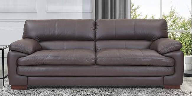 Jessie Leatherette sofa - Brown (Brown, 3-seater Custom Set - Sofas, None Standard Set - Sofas, Leatherette Sofa Material, Regular Sofa Size, Regular Sofa Type)