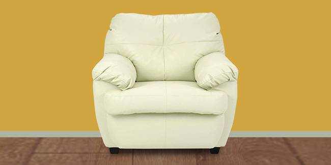 Seattle Leatherette sofa - Cream (Cream, 1-seater Custom Set - Sofas, None Standard Set - Sofas, Leatherette Sofa Material, Regular Sofa Size, Regular Sofa Type)
