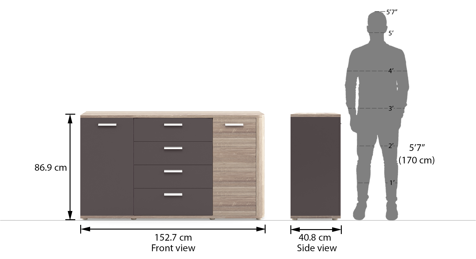 Julius sideboard sonomo oak dim1