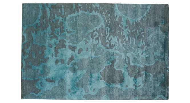 "Thea Rug (Blue, Rectangle Carpet Shape, 120 x 180 cm  (47"" x 71"") Carpet Size) by Urban Ladder - Front View Design 1 - 377131"