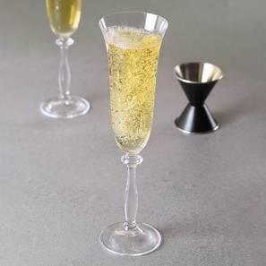 Angela champagne glass set of 6 transparent lp