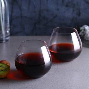 Amoroso Wine Glass Set of 2 (transparent) by Urban Ladder - Front View Design 1 - 377179