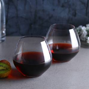 Angie Wine Glass Set of 2 (transparent) by Urban Ladder - Front View Design 1 - 377224