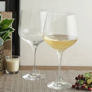 Angela Wine Glass Set of 6 (transparent) by Urban Ladder - Front View Design 1 - 377227