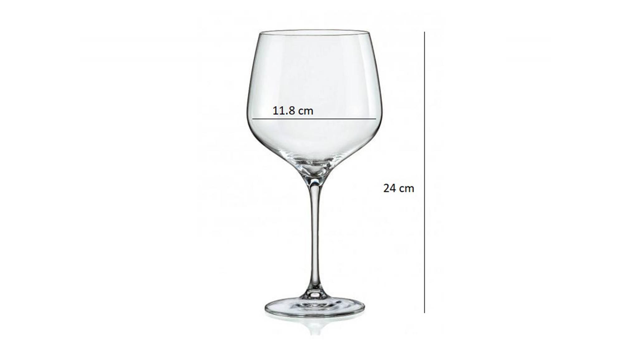 Angela wine glass set of 6 transparent 5