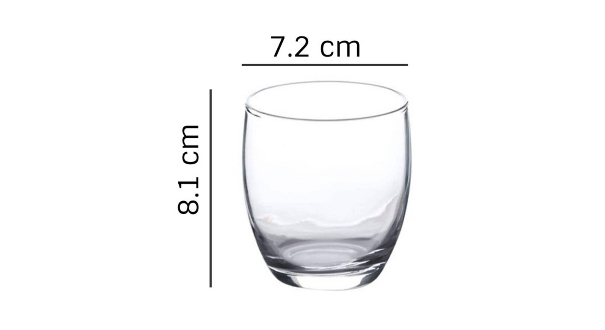 Anika dessert glass set of 6 transparent 5