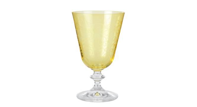Bella Drinking Glass Set of 6 (Yellow) by Urban Ladder - Cross View Design 1 - 377289