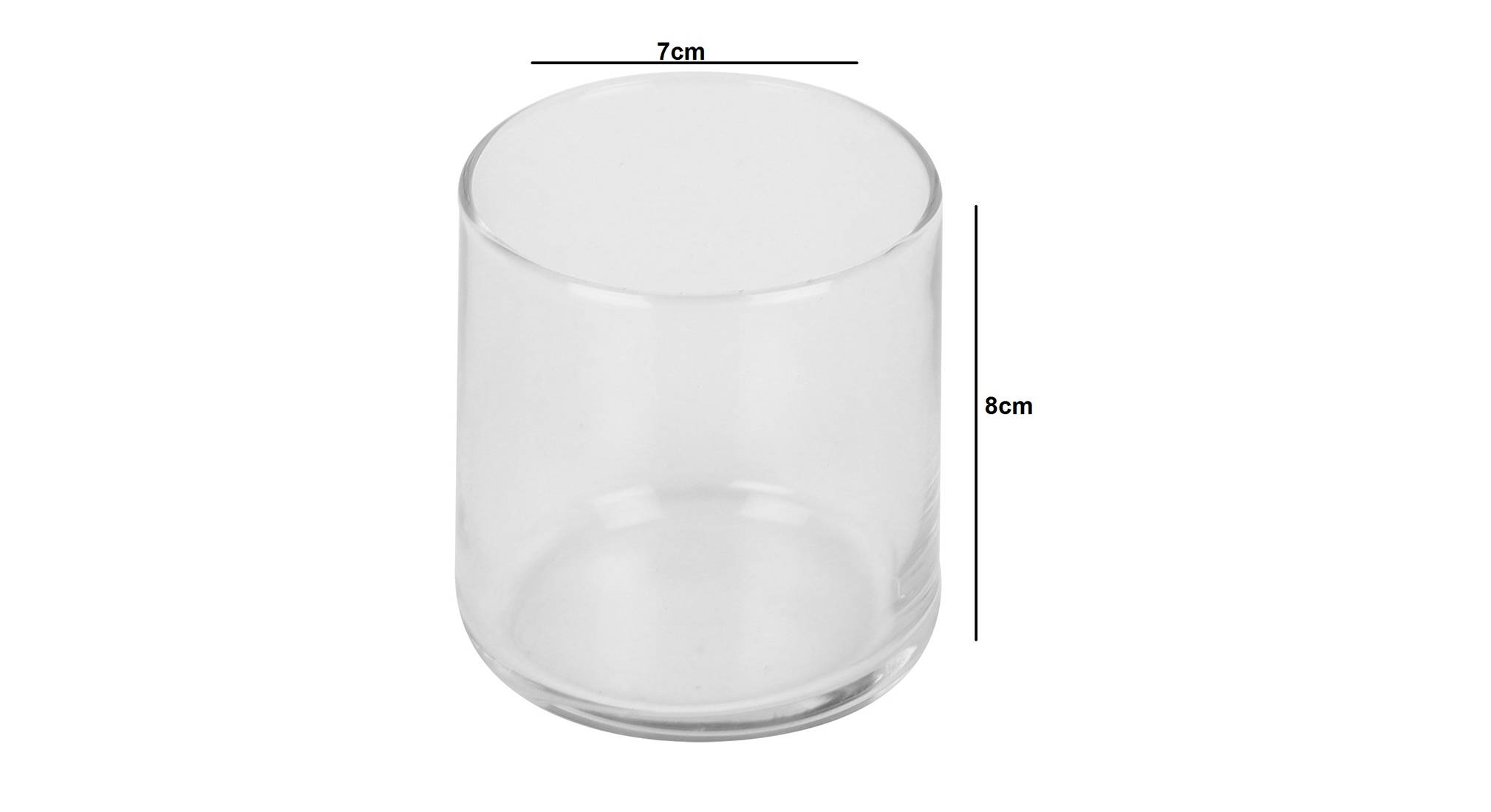 Canti drinking glass set of 6 transparent 5
