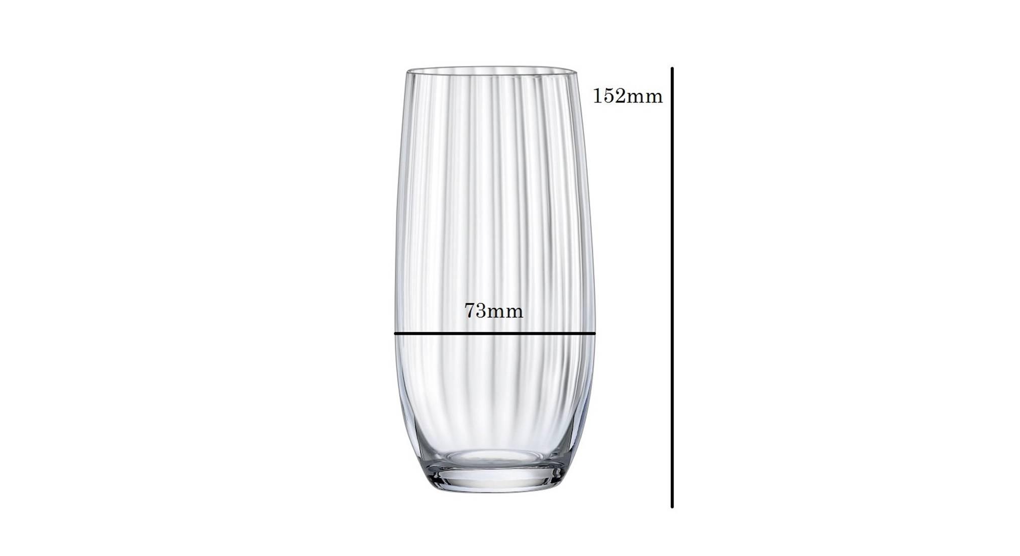 Club drinking glass set of 6 transparent 5