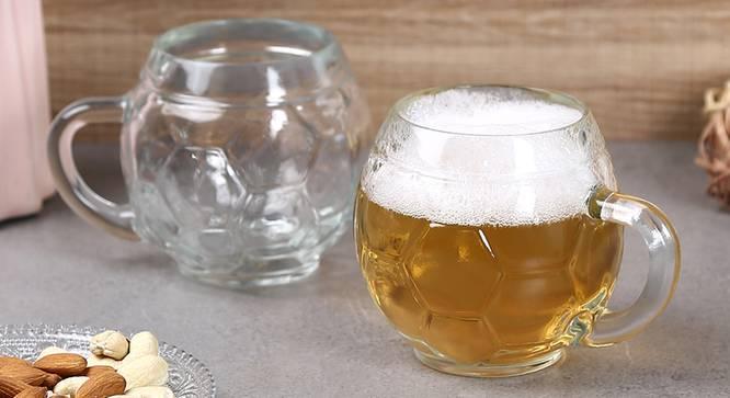 Football Beer Mug Set of 2 (transparent) by Urban Ladder - Front View Design 1 - 377486