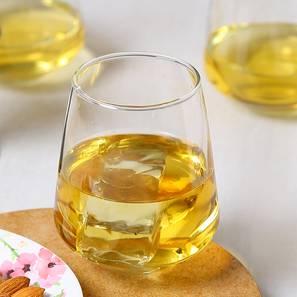 King whiskey glass set of 6 transparent lp