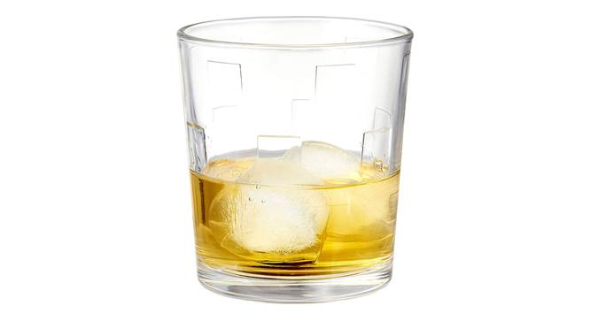 Kyvos Whiskey Glass Set of 6 (transparent) by Urban Ladder - Cross View Design 1 - 377688