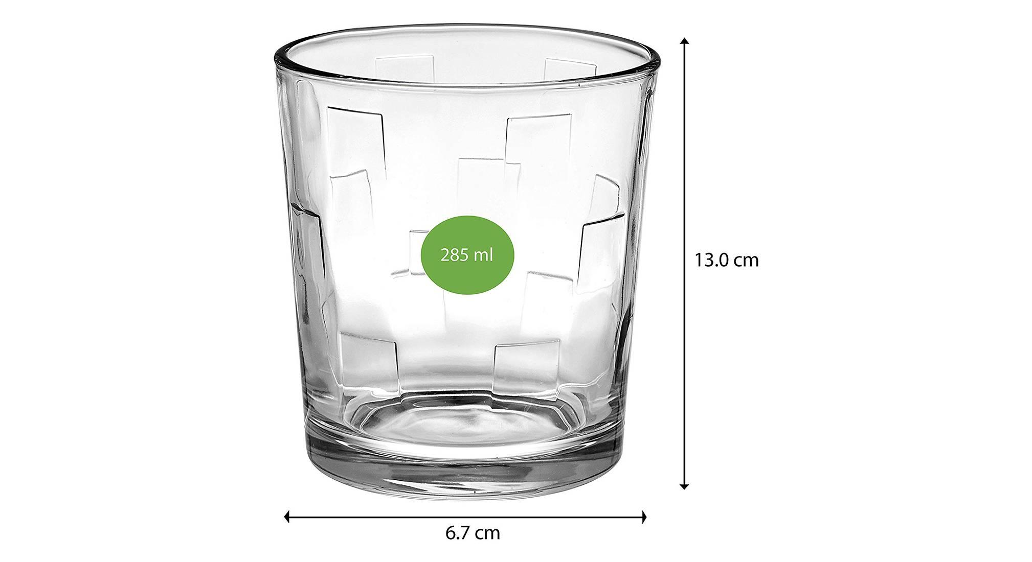 Kyvos whiskey glass set of 6 transparent 5