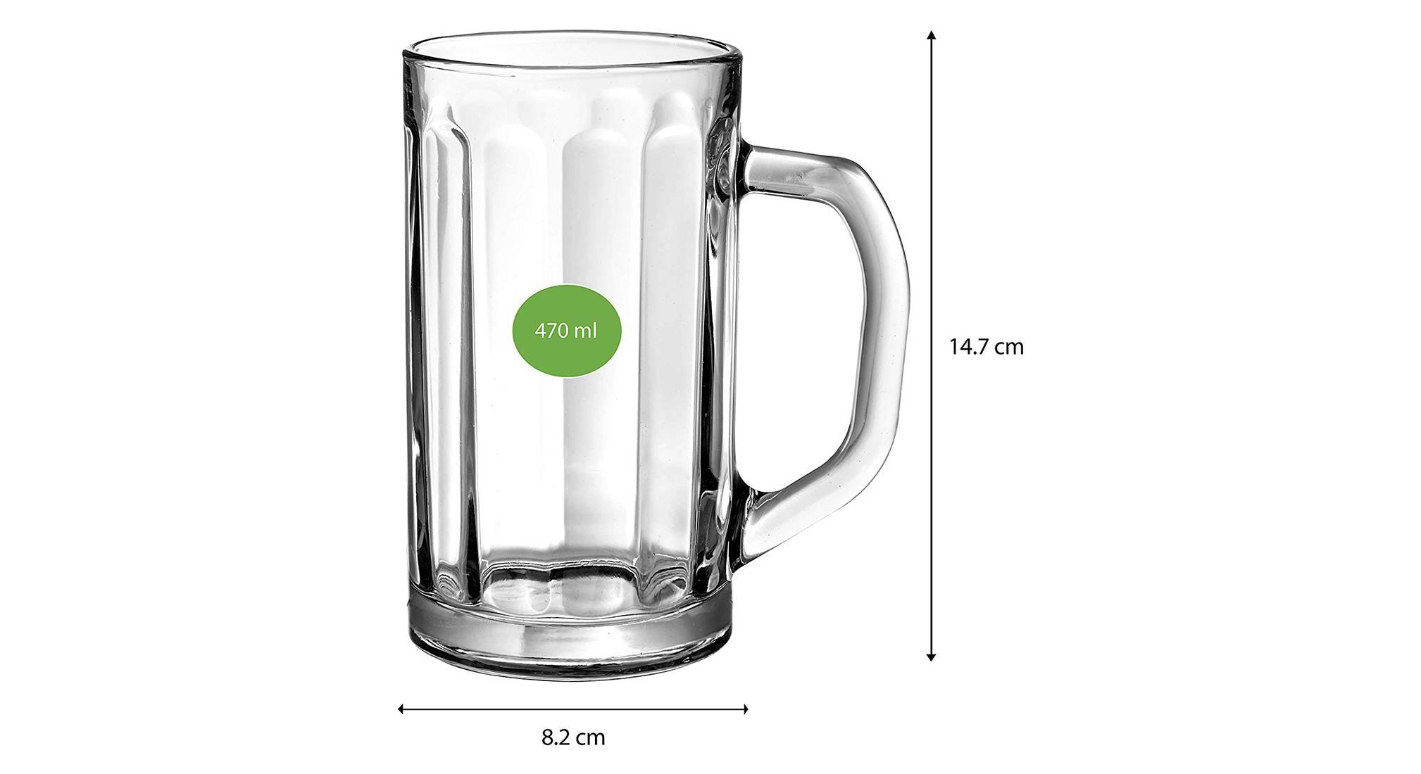 Nicol beer glass set of 2 transparent 5