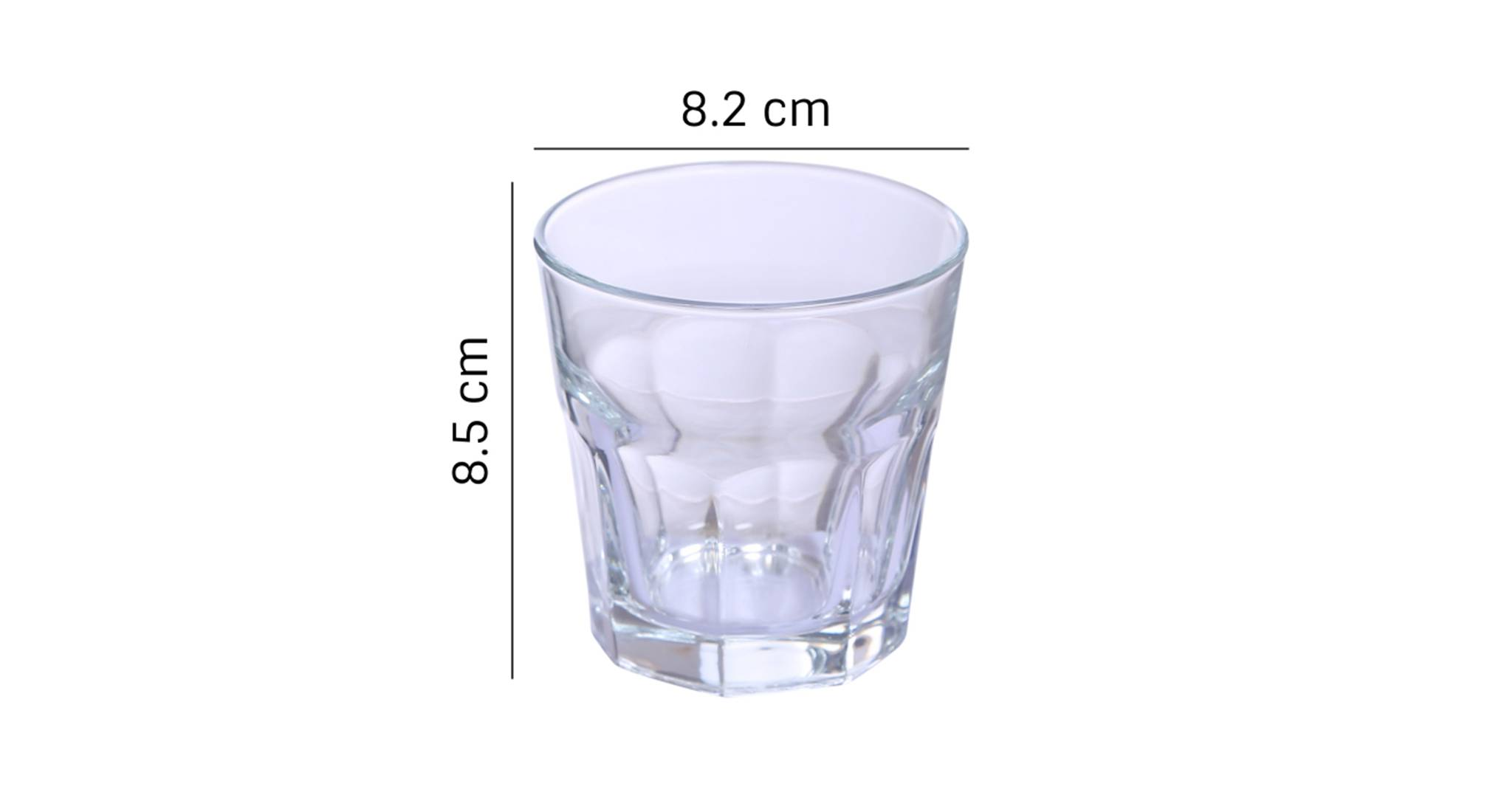 Morocco whiskey glass set of 6 transparent 5