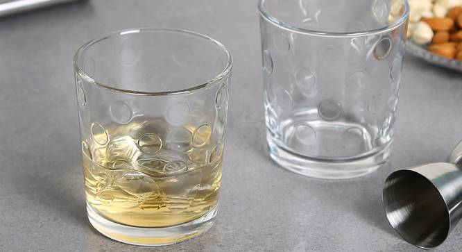 Pop Whiskey Glass Set of 6 (transparent) by Urban Ladder - Front View Design 1 - 377776