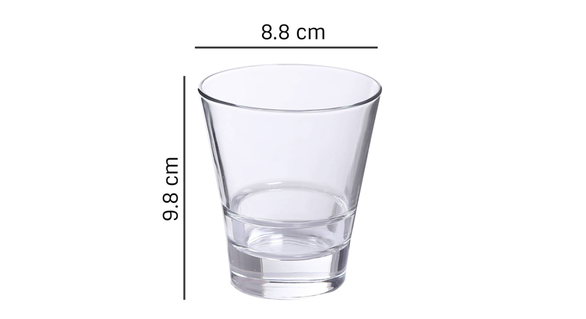 Oxford whiskey glass set of 6 transparent 5