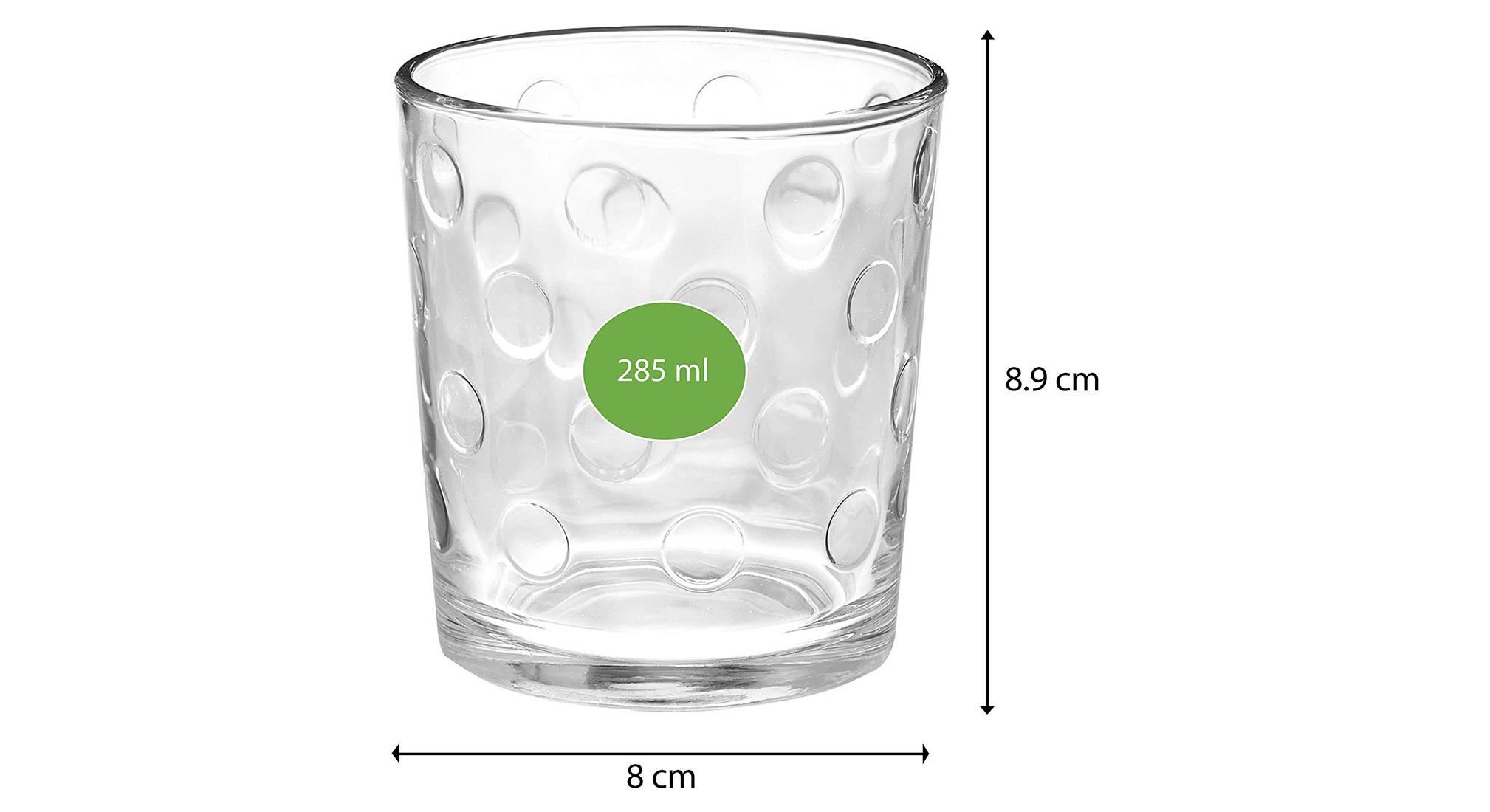 Pop whiskey glass set of 6 transparent 5