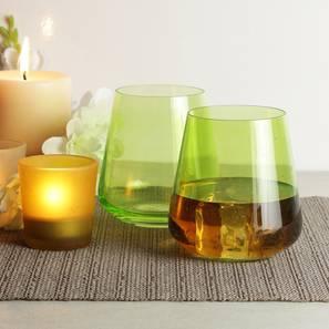 Siesta whiskey glass set of 6 green lp