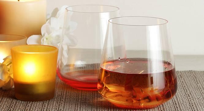 Siesta Whiskey Glass Set of 6 (Orange) by Urban Ladder - Front View Design 1 - 377937