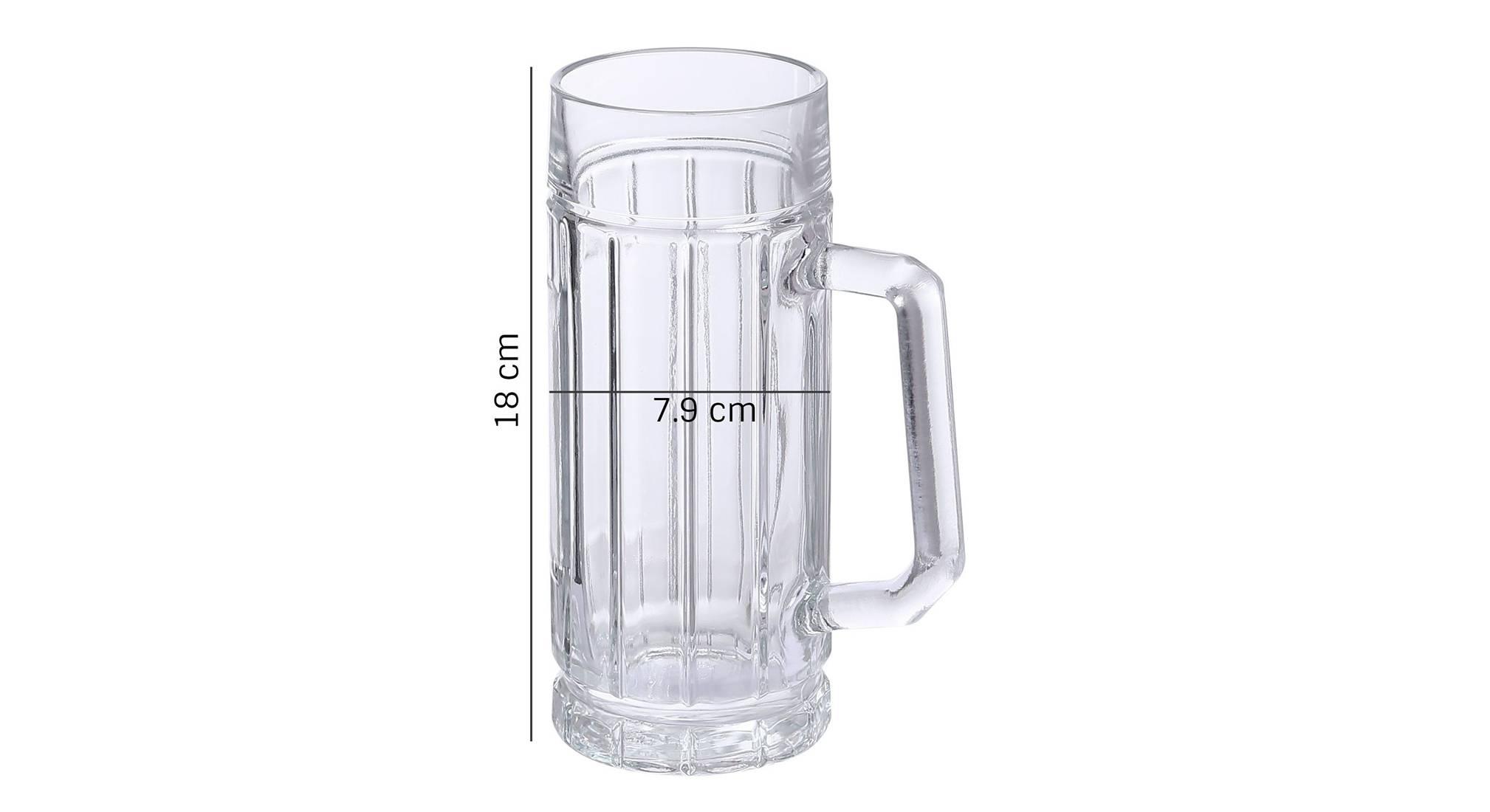 Torin beer glass set of 2 transparent 5