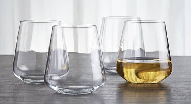 Yaros Whiskey Glass Set of 6 (transparent) by Urban Ladder - Front View Design 1 - 378026