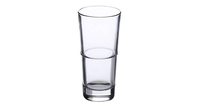 Zlata Drinking Glass Set of 6 (transparent) by Urban Ladder - Cross View Design 1 - 378038