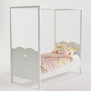Dreamcatcher Bed-White (White, Matte Finish) by Urban Ladder - Top View Design 1 - 378064