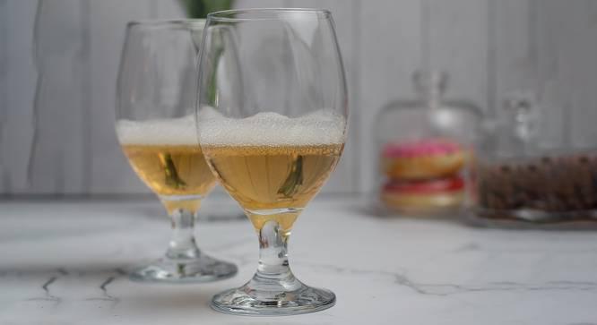 Brooklyn Wine Glasses Set of 6 (Transperant) by Urban Ladder - Design 1 Half View - 378107