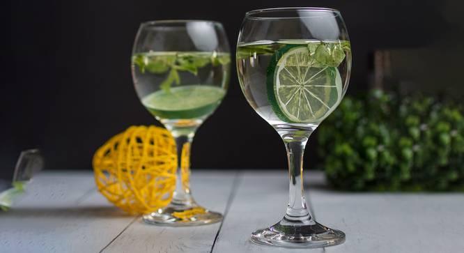Charlie Wine Glasses Set of 6 (Transperant) by Urban Ladder - Design 1 Half View - 378110