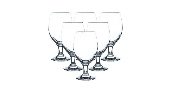 Brooklyn Wine Glasses Set of 6 (Transperant) by Urban Ladder - Front View Design 1 - 378123
