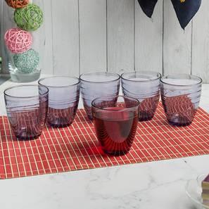 Dexter Drinking Glasses Set of 6 (Purple) by Urban Ladder - Design 1 Half View - 378168