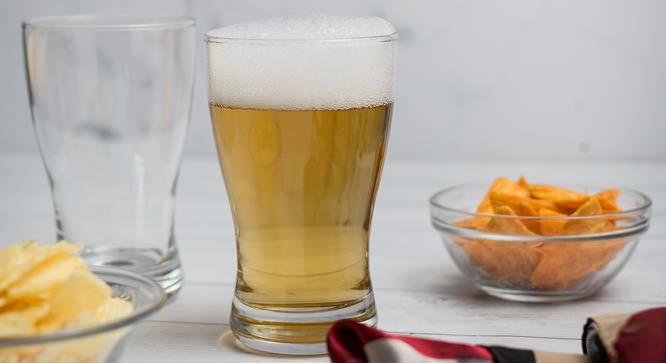 Echo Beer Glasses Set of 6 (Transperant) by Urban Ladder - Design 1 Half View - 378174