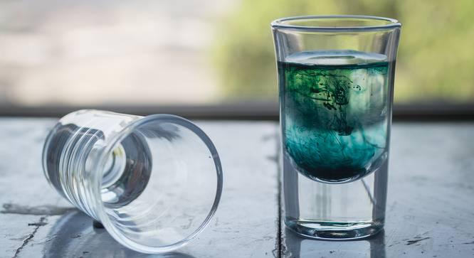Georgia Shot Glasses Set of 6 (Transperant) by Urban Ladder - Design 1 Half View - 378236