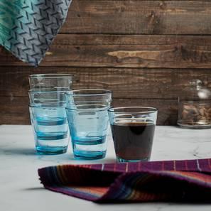 Joss drinking glasses set of 6 blue lp