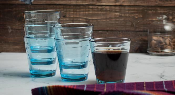 Joss Drinking Glasses Set of 6 (Blue) by Urban Ladder - Design 1 Half View - 378317
