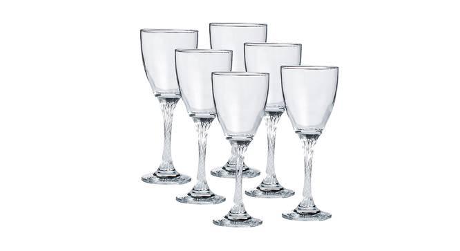 Maddox Wine Glasses Set of 6 (Transperant) by Urban Ladder - Design 1 Half View - 378334