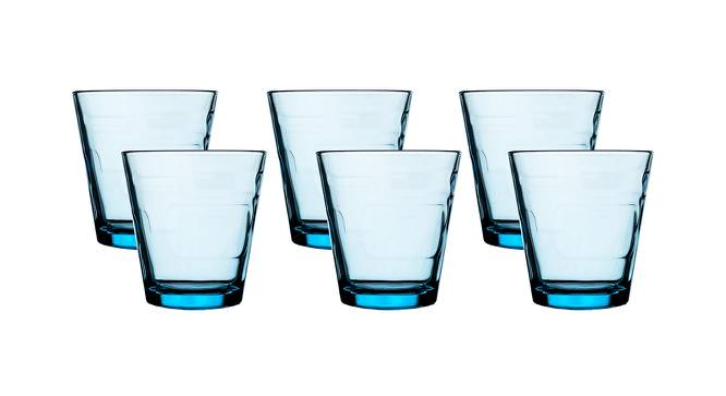 Joss Drinking Glasses Set of 6 (Blue) by Urban Ladder - Front View Design 1 - 378338