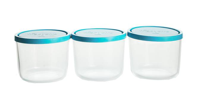 Natalie Containers Set of 3 (Transperant) by Urban Ladder - Design 1 Half View - 378372