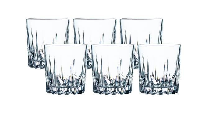 Sia Whiskey Glasses Set of 6 (Transperant) by Urban Ladder - Front View Design 1 - 378533