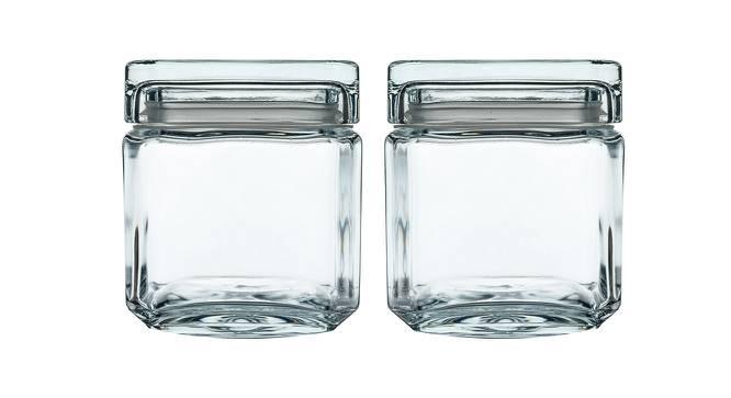 Stella Jars Set of 2 (Transperant) by Urban Ladder - Front View Design 1 - 378539