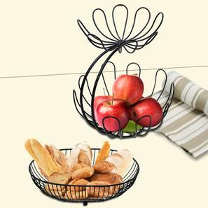Adley Fruit Basket (Black) by Urban Ladder - Front View Design 1 - 378582