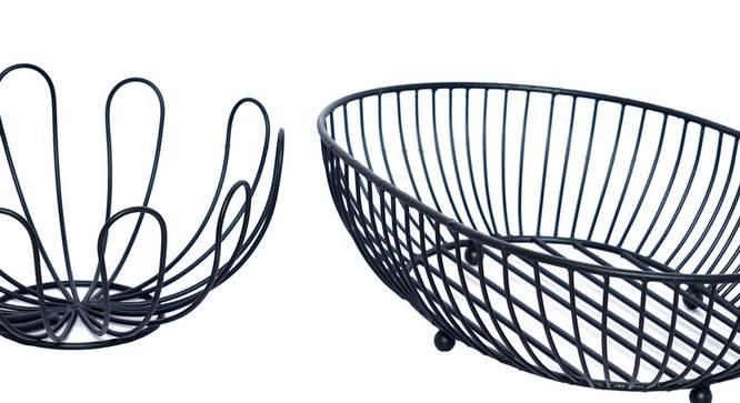 Adley Fruit Basket (Black) by Urban Ladder - Cross View Design 1 - 378591