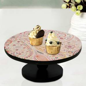 Andrina Cake Stand (Red & Black) by Urban Ladder - Front View Design 1 - 378634