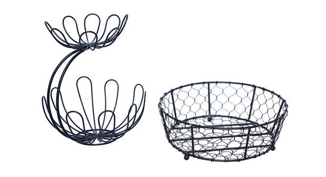 Amory Fruit Basket (Black) by Urban Ladder - Front View Design 1 - 378635