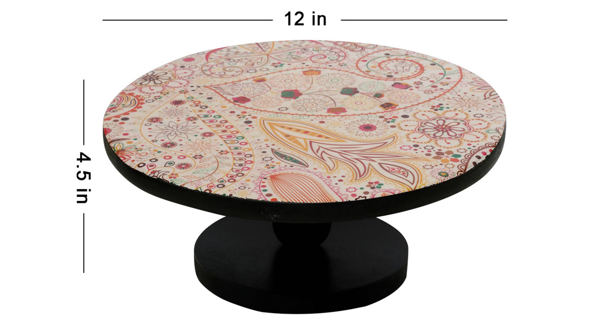 Andrina cake stand  red black1120 5