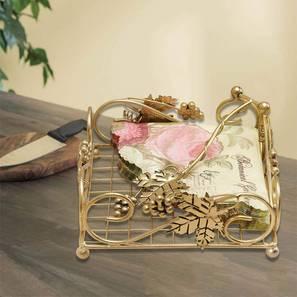 Arlo Tissue Holder (Gold) by Urban Ladder - Front View Design 1 - 378692